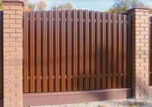 Забор из металла, Евроштакетник, металлический штакетник